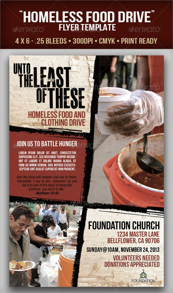 18  food drive flyer templates