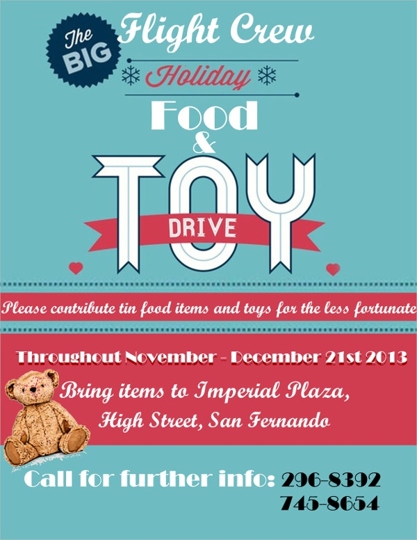 food and toy drive flyer