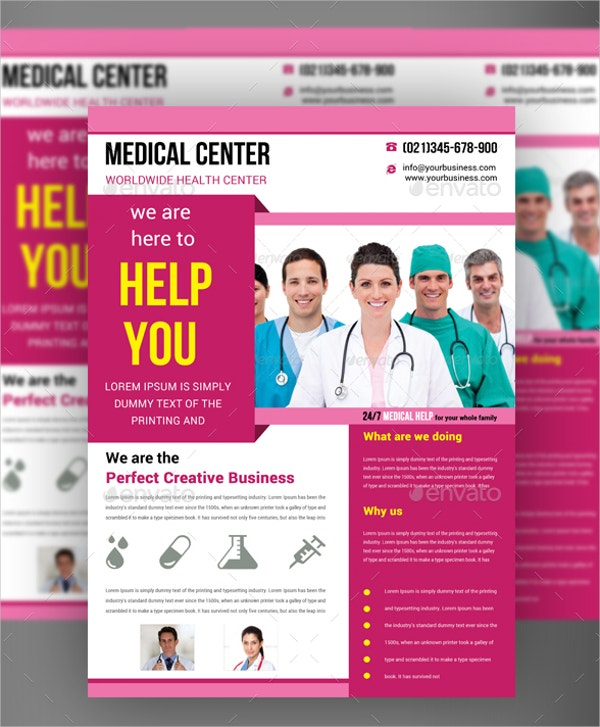 Dental Medical Flyer Template  Advertising Flyer Templates Free