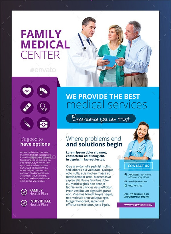 Medical Flyer Templates Free PSD AI EPS Format Download - Medical office brochure templates