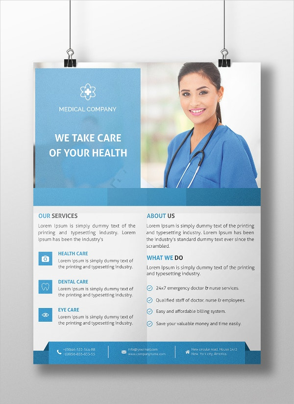 medical flyer design template