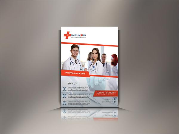 modern medical flyer