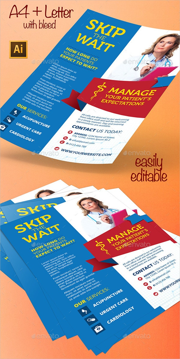 clinic medical flyer template