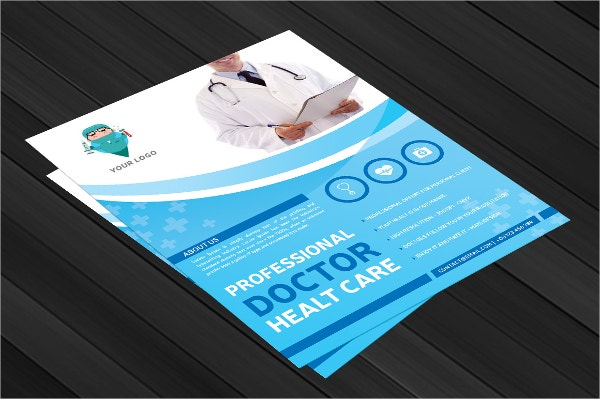 professional doctor health flyer