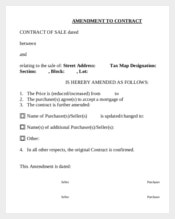 Amendment Contract Template