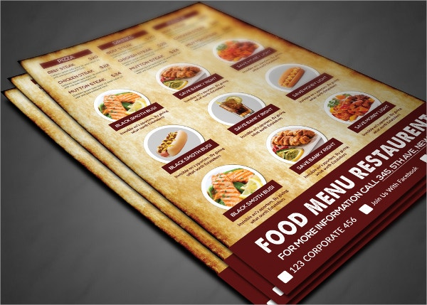 Organic Food Menu Brochure