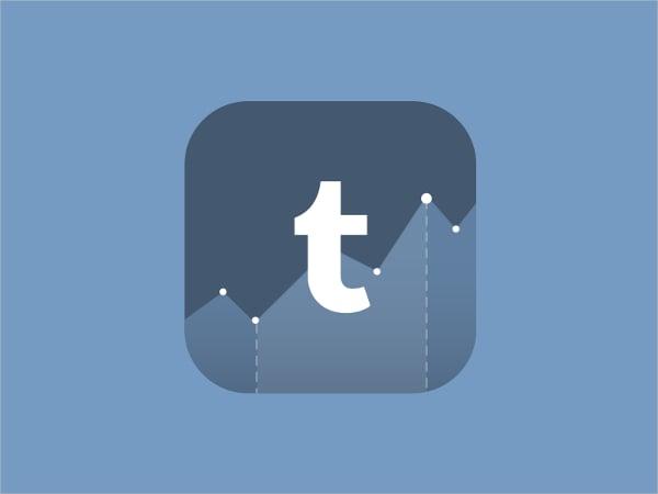 tumblr analytics icon