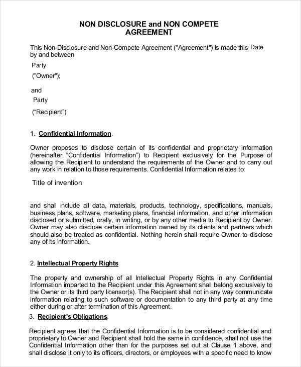 simple non compete agreement1