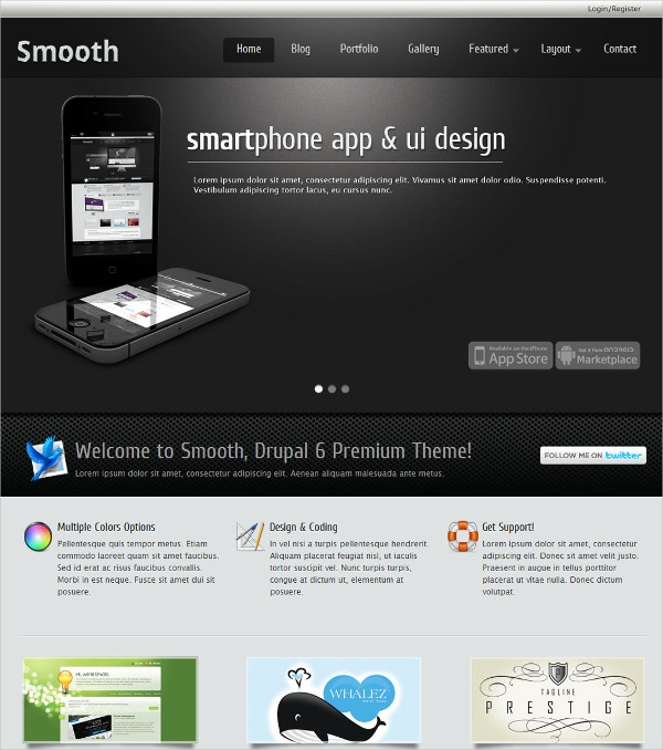 Smooth Administration Drupal Theme $48