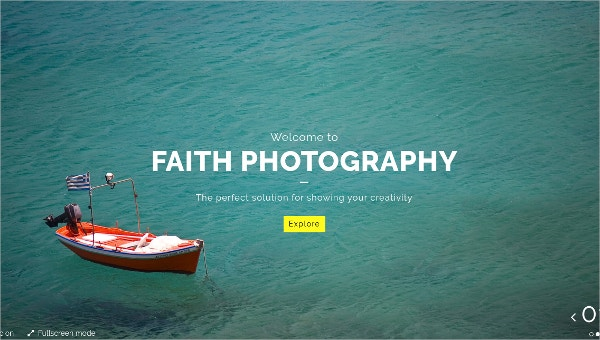 Fullscreen Creative Photography WordPress Theme $49