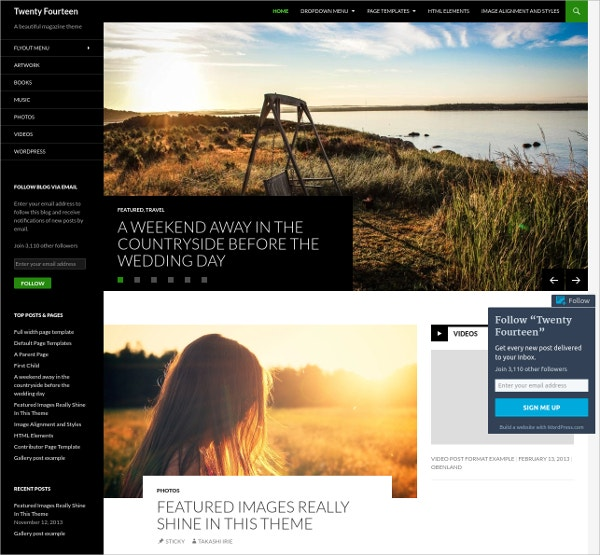 Beautiful & Modern Photography WordPress Theme
