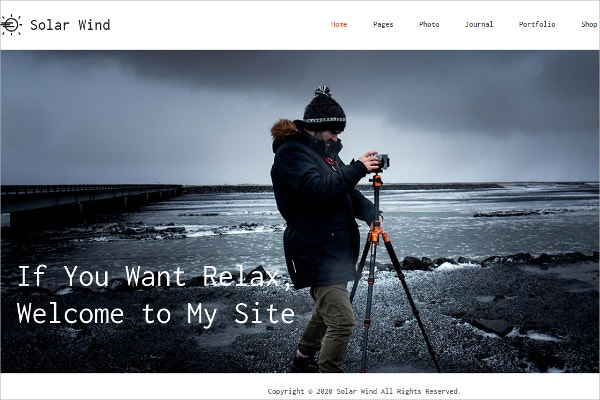Photography Blog Gallery WordPress Theme $59