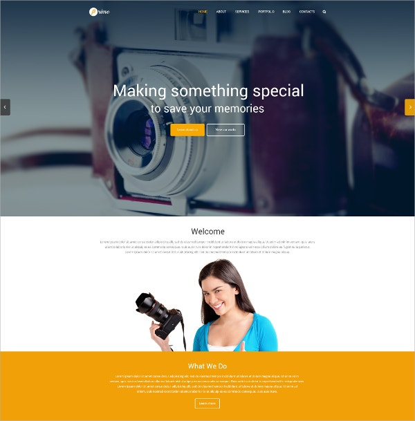Photographer Portfolio WordPress Theme $79
