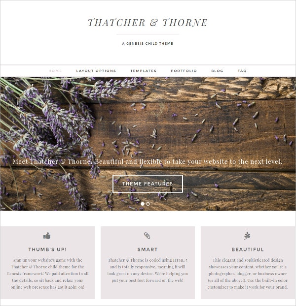 Feminine Photography WordPress Theme $50