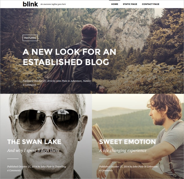 Simple & Clean Photography WordPress Blogging Theme $55