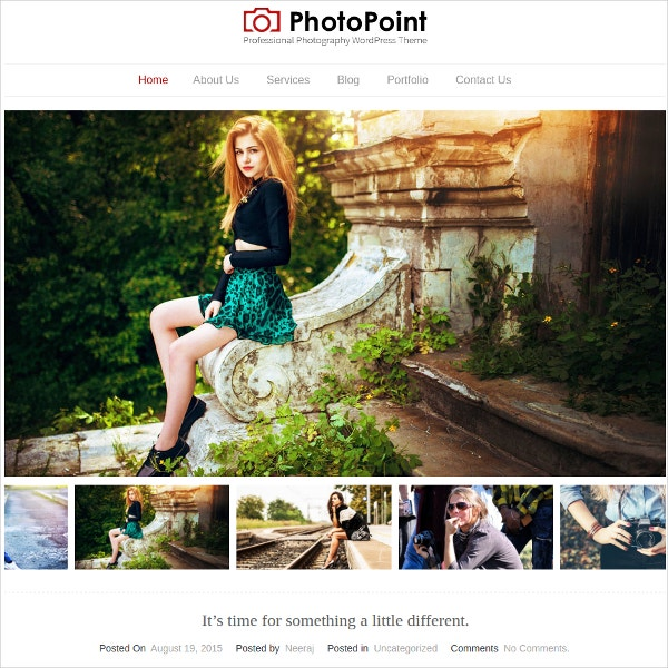 Professional Photographer WordPress Website Theme $79