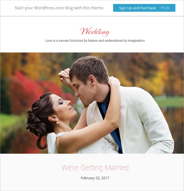 Wedding & Elegant Photography WordPress Theme