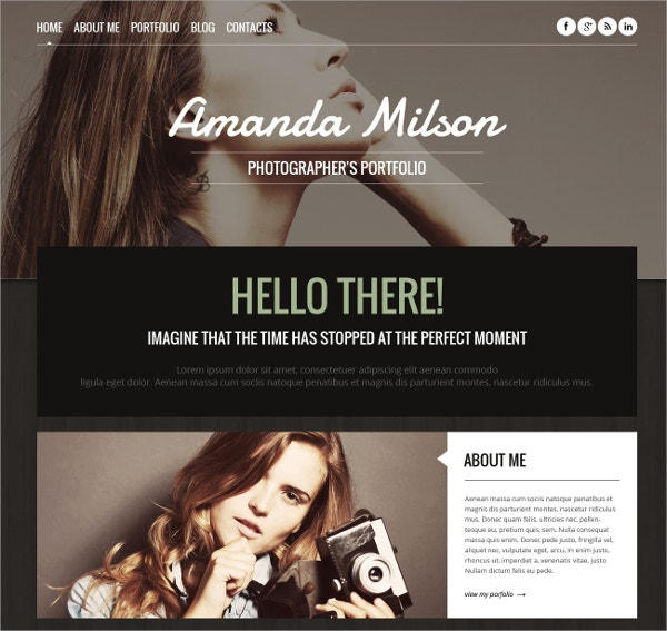 Perfect Photographer Portfolio WordPress Theme $75