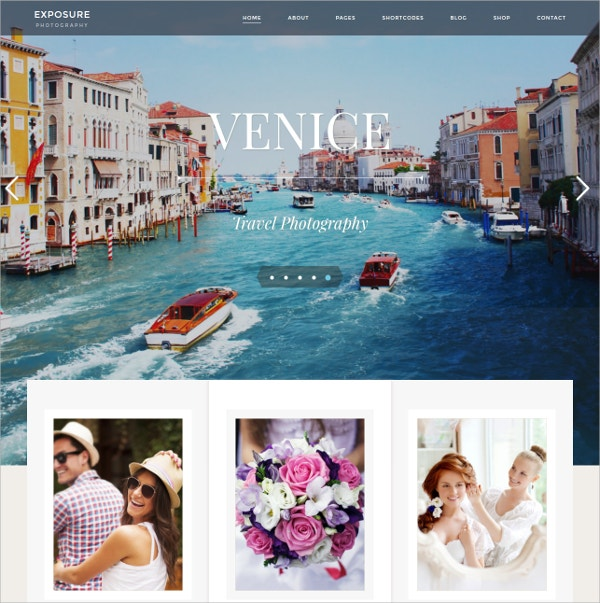 Modern Photography WordPress Theme $59