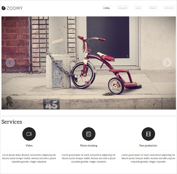 WordPress Photographer Website Theme $42