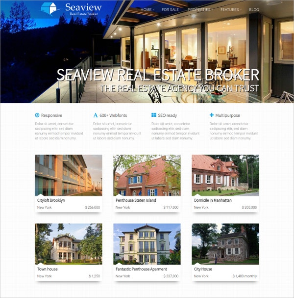 Responsive WordPress Real Estate Photography Theme $49