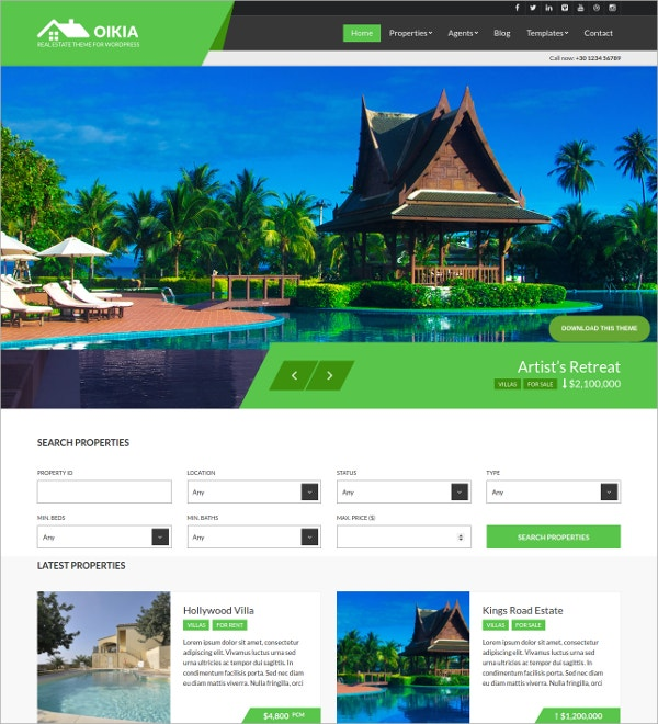 Fantastic Real Estate WordPress Theme
