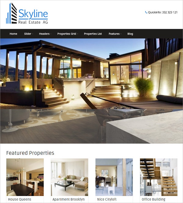 Responsive Real Estate WordPress Theme $49