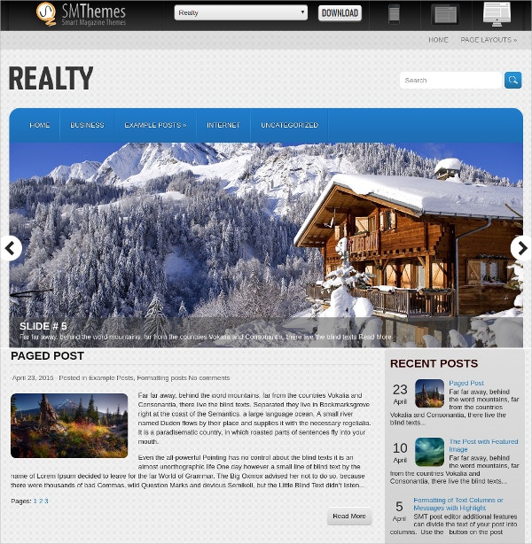 Free Perfect Real Estate WordPress Website Template