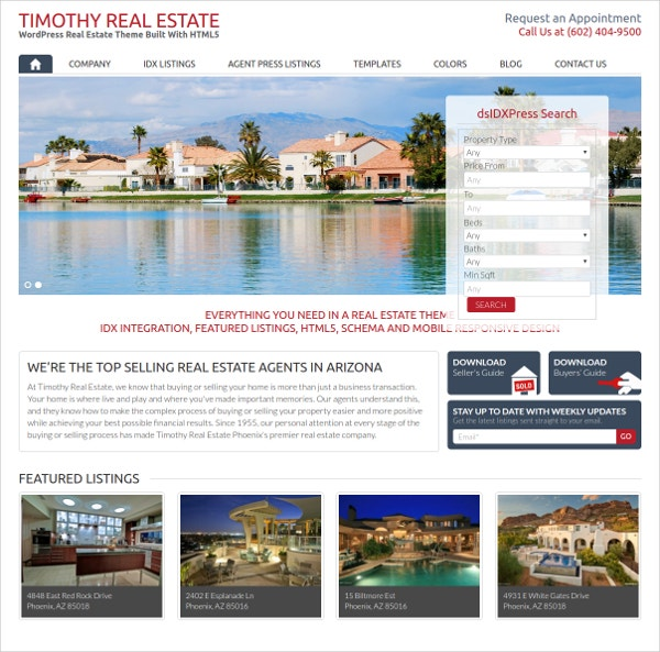 WordPress Real Estate Website Blog Theme