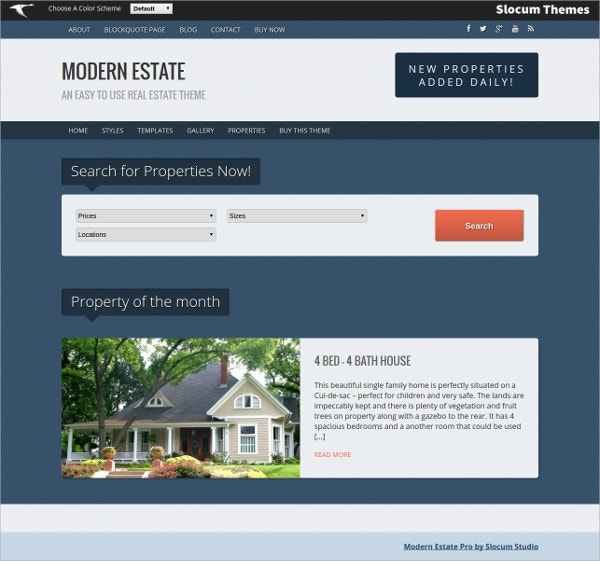 Modern Real Estate WordPress Theme