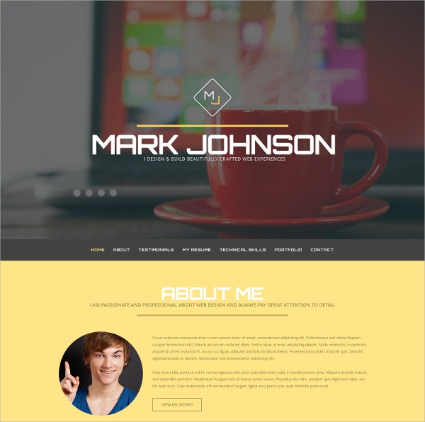 Web Designer One Page WordPress Theme $75