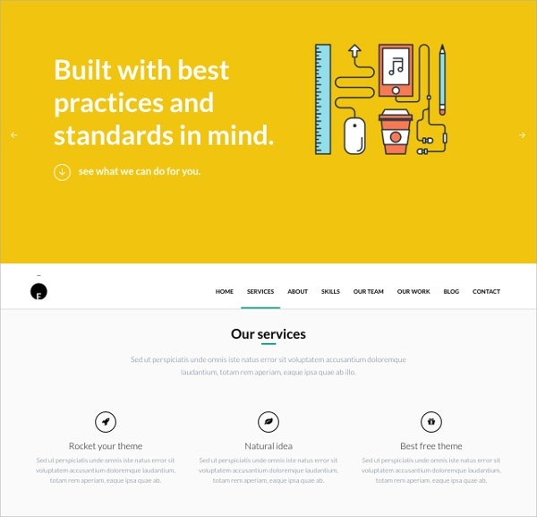 Multipurpose One Page WordPress Website Theme