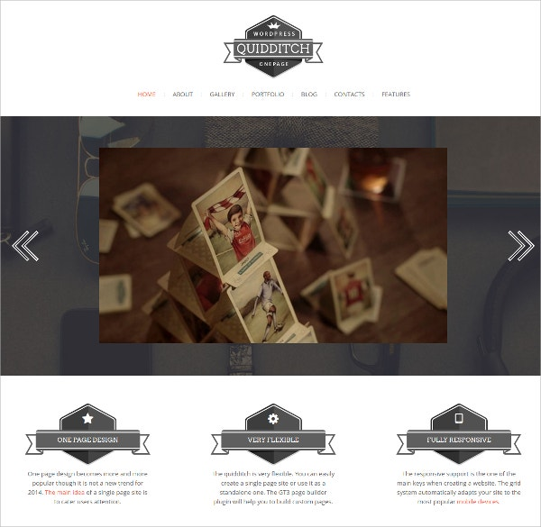 Portfolio One Page WordPress Theme $44