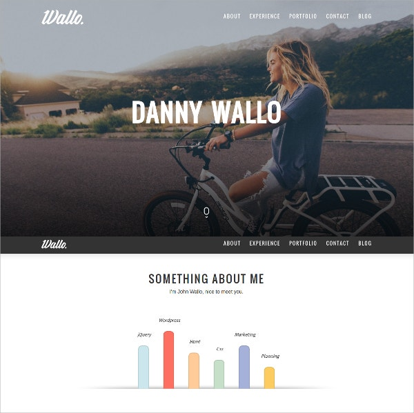Design One Page Parallax WordPress Theme $25