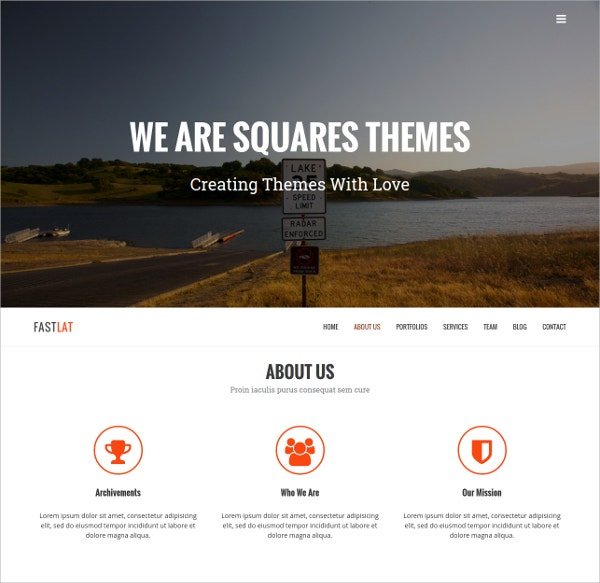 Creative Portfolio One Page WordPress Theme $19