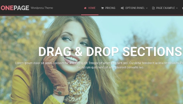 Creative One Page Website WordPress Template
