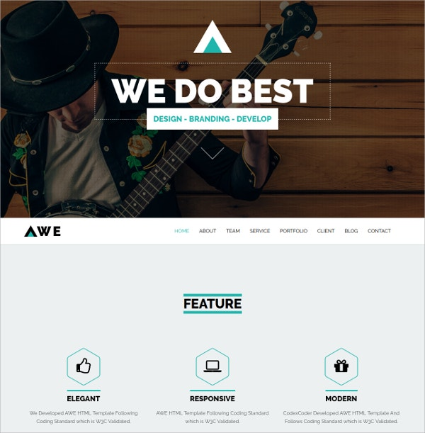 Awesome Single Page WordPress Website Theme