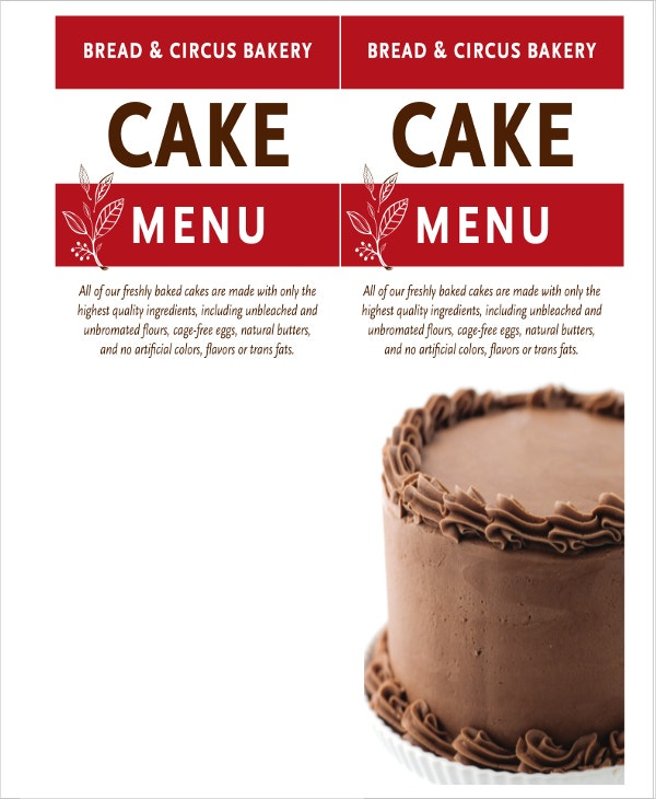 bakery menu template2