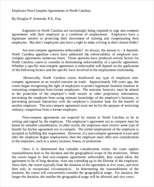 employee non compete agreement5