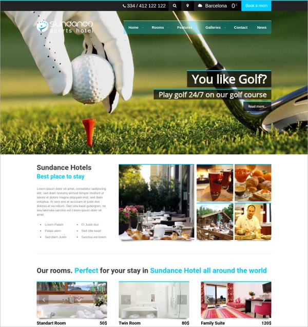 Golf Sports WordPress Theme $69