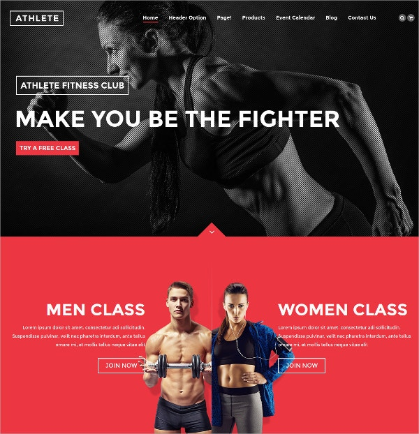 Fitness, Gym And Sport WordPress Theme $59