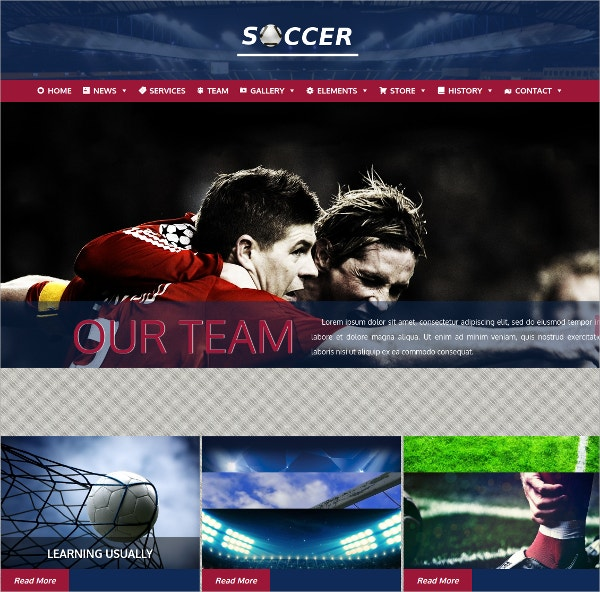Soccer & Football Sports WordPress Theme $39