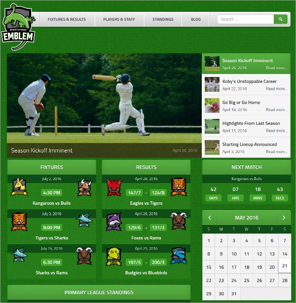 Special Sports WordPress Theme