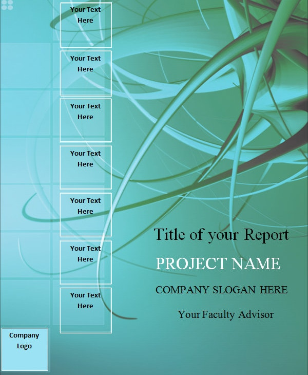 report cover sheet template sample