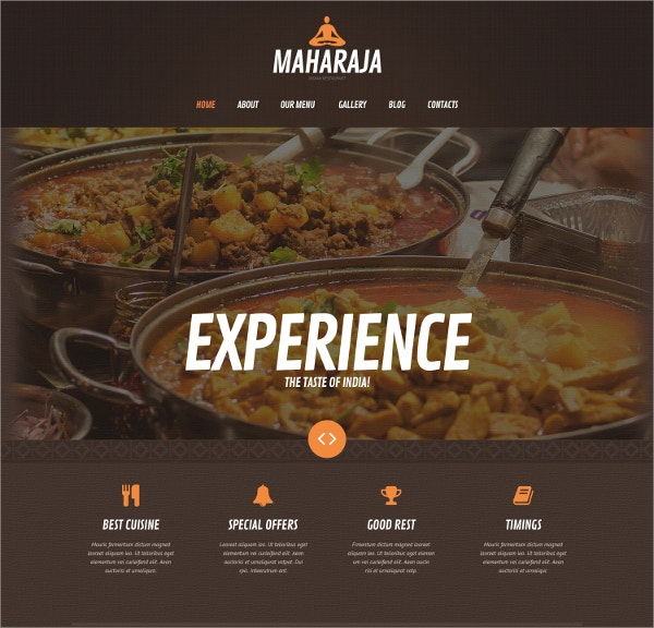 Asian Restaurant Taste Food WordPress Theme $75