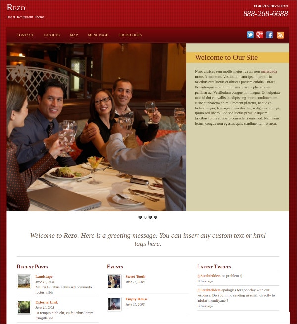 Food & Restaurant WordPress Website Theme