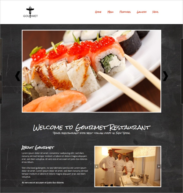 Restaurant & Wine WordPress Theme $69