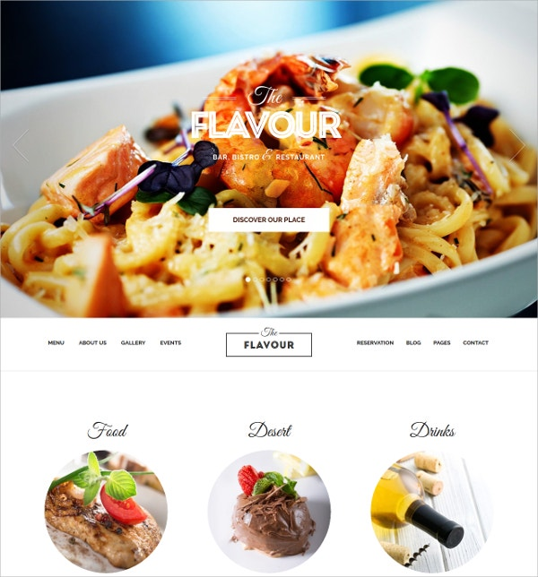 Modern Restaurant WordPress Theme $54