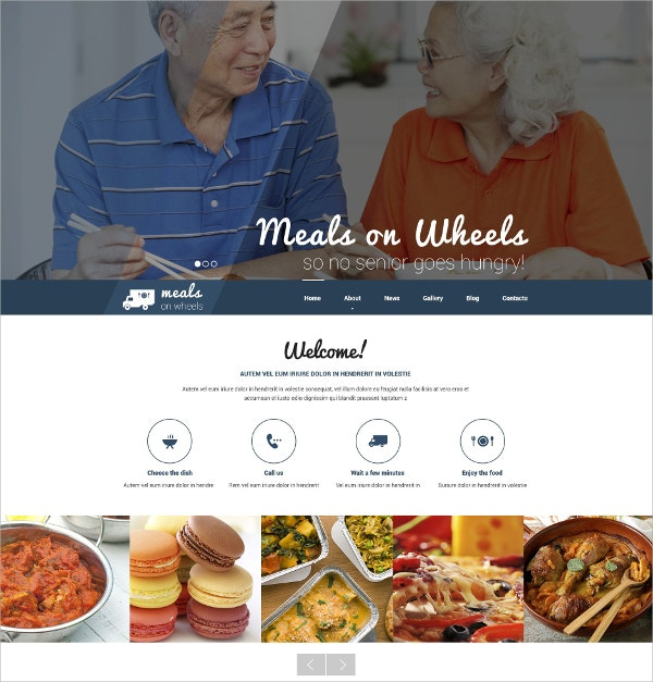 Fast Food Restaurant Responsive WordPress Theme $75