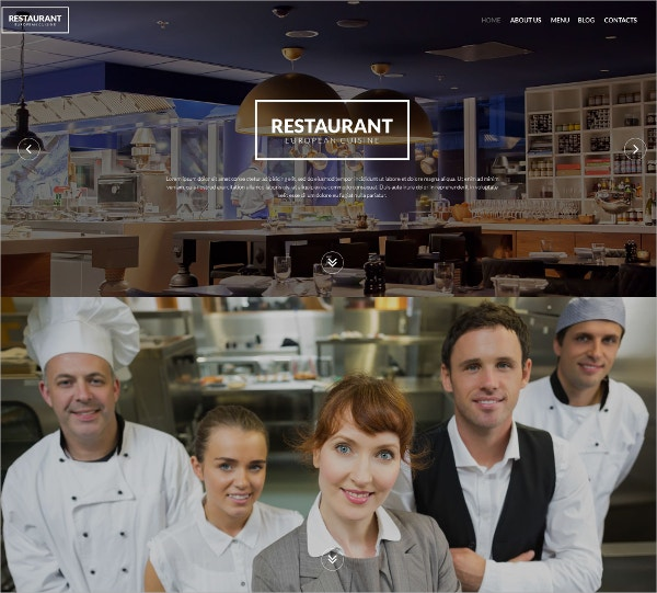 Restaurant & Cuisine WordPress Theme $75